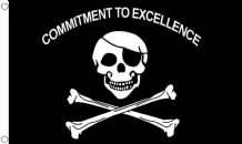 COMMITMENT TO EXCELLENCE PIRATE - 5 X 3 FLAG
